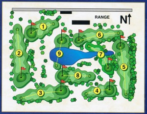 Map of East Fork Golf Course